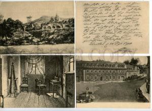 133964 GOETHE Great WRITER Vintage Set of 9 postcards RARE