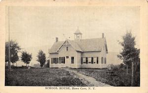 Howe Cave New York~School House~Belfry~Dirt Path~1908 B&W Postcard