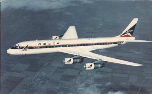 DELTA Airlines Douglas DC-8 Fanjet in Flight