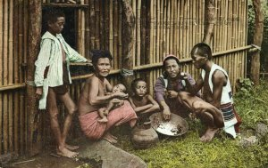 formosa taiwan, Native Family Eating, Woman with Baby (1930s) Postcard