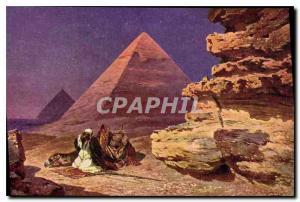 Old Postcard Egypt Egypt Giza Pyramids