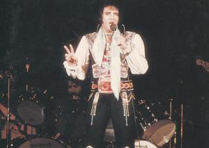 Elvis Presley Live In Nassau 1975 Official Postcard