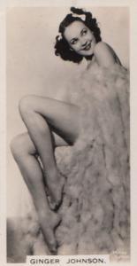 Ginger Johnson Actress Vintage Rare Real Photo Cigarette Card