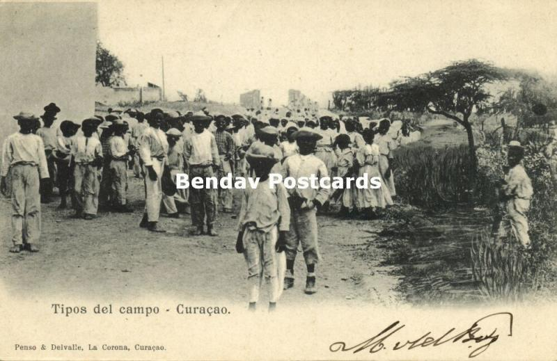curacao, W.I., WILLEMSTAD, Tipos del Campo (1899) Penso & Delvalle