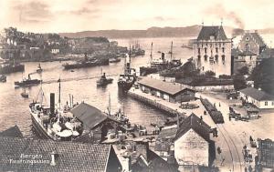 Norway Old Vintage Antique Post Card Bergen Faestningskalen Unused