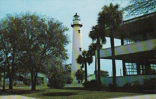 Lighthouse and Glynn County Casino St Simons Island Georgia