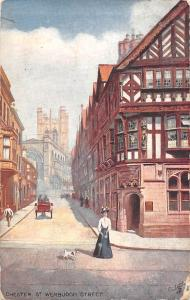 Chester St. Werburgh Street, carriage, fancy street, Oilette 1911