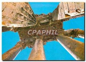 Postcard Modern Lebanon Temple of Bacchus Details of Ceiling