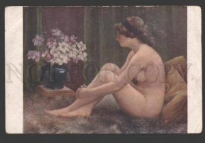 107539 Belle NUDE Girl w/ Narcissus by SEEBERGER vintage SALON