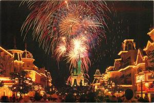 Cinderella Castle Main Street St Fireworks Disney World Orlando Florida Postcard