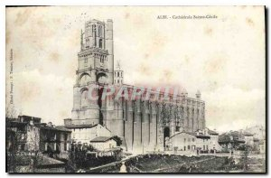 Postcard Old Albi Cathedrale Saint Cecile