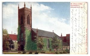 1911 St. Paul's Pro Cathedral, Springfield, IL Postcard