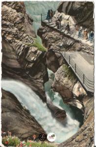 Vintage Postcard, Trummelbach Falls at Laterbrunnen's in Zurich Switzerland