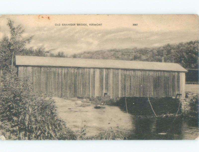 1920's BRIDGE BEFORE DESTROYED Rockingham By Springfield & Brattleboro VT d5195