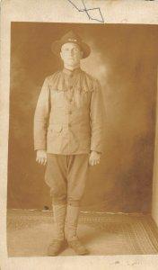 G24/ Decorah Iowa RPPC Postcard Army Soldier Patriotic c1920