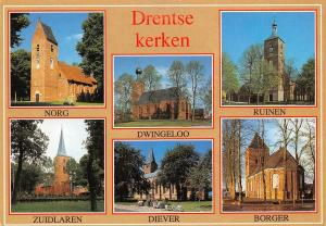 Netherlands Drentse kerken Norg Dwingeloo Ruinen Zuidlaren Diever Borger