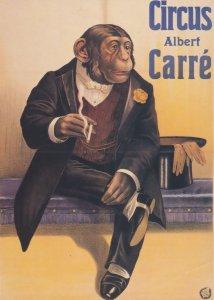Circus Albert Carre Chimpanzee Smoking Harlem Poster Postcard