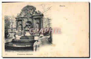 Old Postcard Paris Fountain Medicis