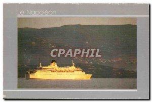 Postcard Modern Boat Ship Corsica SS Napoleon