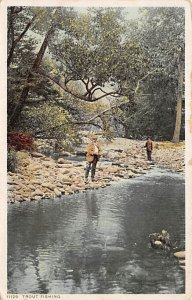 Man by a Stream Fishing 1926