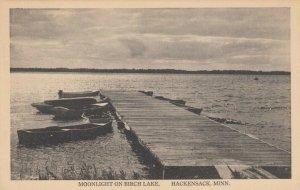 HACKENSACK, Minnesota, 1910-20s; Moonlight on Birch Lake