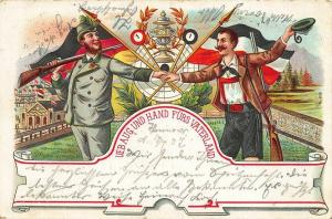 Germany Ueb Aug Und Hand Furs Vaterland Target Rifles Postcard