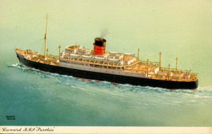 Cunard Line - RMS Parthia        Artist: Thomas