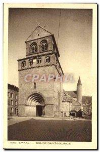Old Postcard Epinal Eglise Saint Maurice