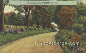 Philippi, West Virginia Postcard      ;      Philippi, WV Post Card