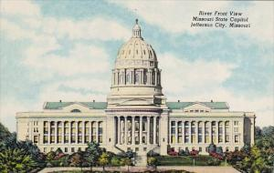Missouri Jefferson City River Front View Misspuri State Capitol