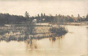 LPM47 Indian River Scenery   Michigan RPPC Postcard