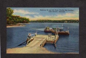 AR Ferry Boat Panther Bay Lake Norfork Arkansas Postcard Linen Ozarks