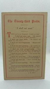 Antique Religious Postcard The Twenty Third Psalm J R Mott  c1900 Unposted VGC