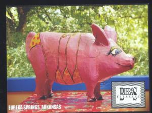 EUREKA SPRINGS ARKANSAS BUBBA'S BBQ RESTAURANT ADVERTISING POSTCARD