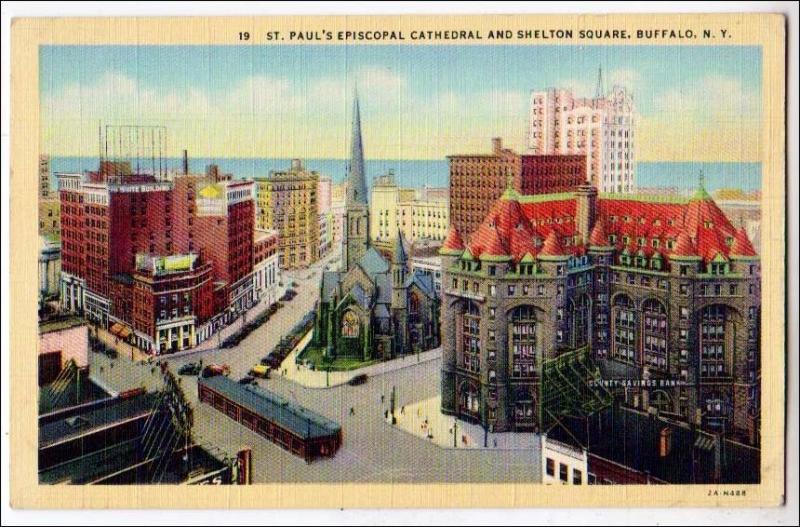 St Paul's Episcopal Cathedral & Shelton Sq. Buffalo NY