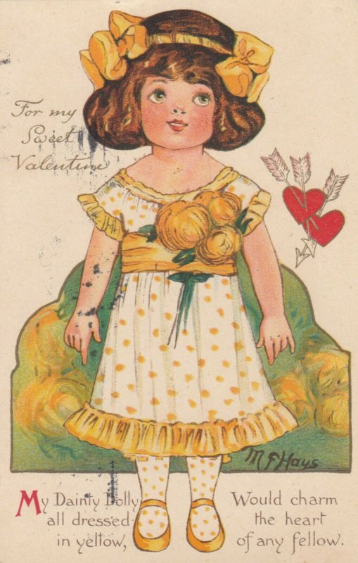VALENTINE'S DAY ; Artist HAYS , My Dainty Dolly , 1914 ; NISTER 2777