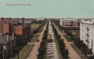 WINNIPEG, Manitoba, Canada, 1900-1910's; Broadway