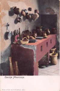 Mexico Cocina Mexicana Old Postcard