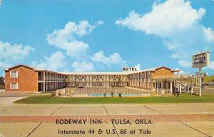 Tulsa Oklahoma~Rodeway Inn on Route 66 1960s