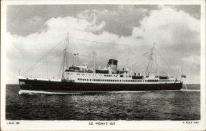 Steamship Ship SS Mona's Isle TUCK Real Photo Postcard