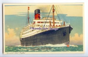 LS1103 - Cunard Liner - Scythia - artist Kenneth Shoesmith - postcard
