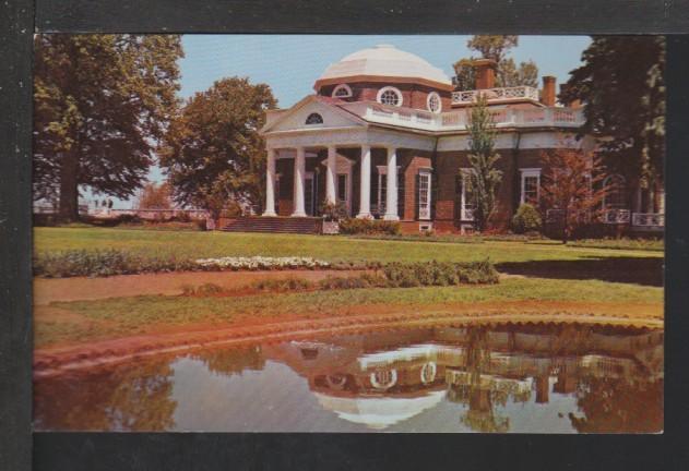 Monticello,Charlottesville,VA Postcard