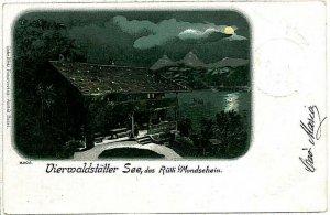Ansichtskarten Schweiz VINTAGE POSTCARD: SWITZERLAND - LUZERN Vierwaldstättersee