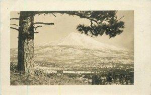 Weed California Mt Shasta Aerial View 1910 RPPC Photo Postcard 21-4843