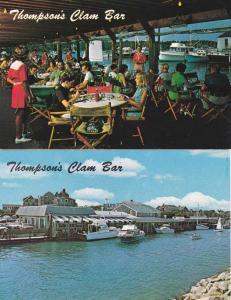 (2 cards) Thompson Brothers Clam Bar - Harwich Port MA, Cape Cod, Massachusetts