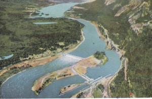 Oregon Columbia River Bonneville Dam Looking East Toward Bridge Of The Gods
