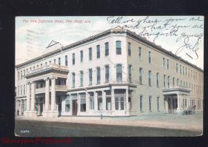 PINE BLUFF ARKANSAS THE NEW JERFFERSON HOTEL ANTIQUE VINTAGE POSTCARD 1908