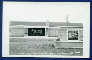 Oconto Wisconsin wi Zion Lutheran Church Real Photo Postcard RPPC
