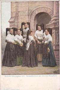 Austria Baden Badische Volkstrachten Markgraeftlerinnen aus dem Amt Schopfheim