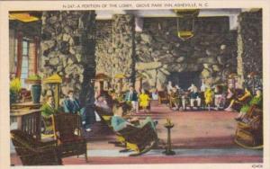 Portion Of The Lobby Interior View Grove Park Inn Asheville North Carolina